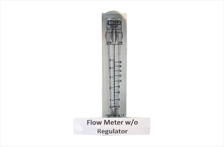 Flow Meter Without Regulator