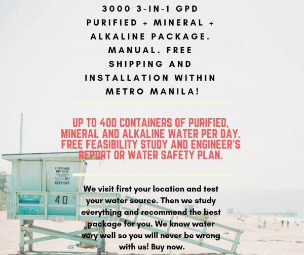 G5N5 3000 GPD Purified + Mineral + Alkaline Setup Manual